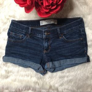 Abercrombie & Fitch Blue Washed Denim Shorts